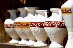 Several souvenir amphora Royalty Free Stock Photos