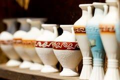 Several souvenir amphoras Royalty Free Stock Photos