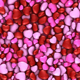 Several stacked hearts of all colors background Royalty Free Stock Photography