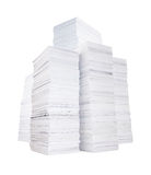 Several stacks of paper Royalty Free Stock Photos