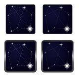Several stars in icon frame series  Royalty Free Stock Photo