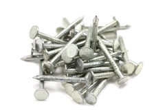 Several steel nails Royalty Free Stock Photo
