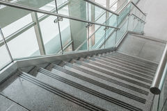 Several steps of granite stairs stock photos