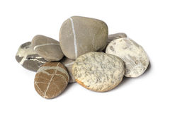 Several stones isolated Royalty Free Stock Photo