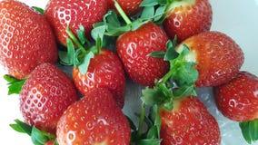 Strawberries in macro view. Several strawberries in macro view stock photos