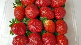 Strawberries in macro view. Several strawberries in macro view stock images