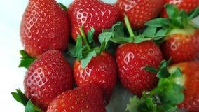 Strawberries in macro view. Several strawberries in macro view royalty free stock image