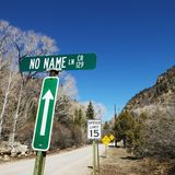 Several street signs. stock photography