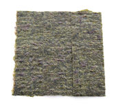 Several strips of dried seaweed sheets isolated Stock Images