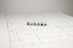 Several Sudoku Games. Printed and homemade Sudoku games stock photo