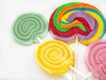 Several sweet lollipops Royalty Free Stock Image