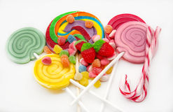 Several sweet lollipops Royalty Free Stock Photo