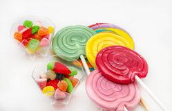 Several sweet lollipops Stock Images