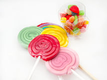 Several sweet lollipops Royalty Free Stock Images