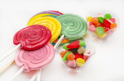 Several sweet lollipops Stock Photo