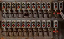 Several switches on wall Royalty Free Stock Photos