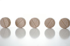 Several tablets. Of straight on the white background Royalty Free Stock Photos