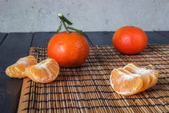 Several tangerines Royalty Free Stock Image