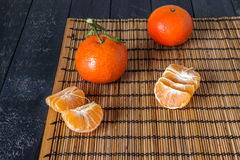 Several tangerines Royalty Free Stock Images