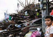 Several thousands left homeless in the aftermath of Typhoon Haiyan Royalty Free Stock Photos