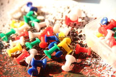 Several thumbtacks Stock Photos