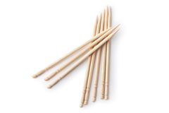 Several toothpicks. Top view. stock image
