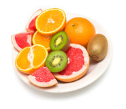 Several tropical fruit Royalty Free Stock Photos