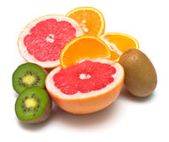 Several tropical fruit Royalty Free Stock Images