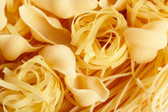 Several types of pasta. Can be used as background Stock Image