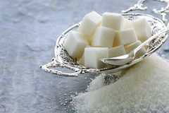 Several types of sugar Royalty Free Stock Image