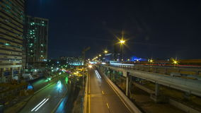 Several urban roads night time lapse, Moscow. Moscow trird transport ring, 2015 clip stock video footage