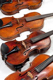 Several used fiddles Stock Image