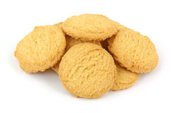 Several vanilla wafer cookies Stock Photography
