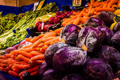 Several Vegetables On Market Royalty Free Stock Images