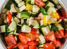 Several vegetables in saucepan Royalty Free Stock Image