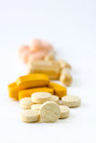 Several Vitamin pills Royalty Free Stock Photo