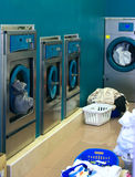 Several washing machines. royalty free stock images