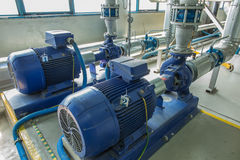 Several Water Pumps With Large Motors Stock Photography