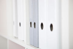 Several White and Gray Binders Royalty Free Stock Photo
