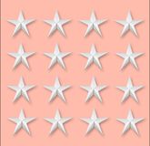 Several stars on pink Royalty Free Stock Photo
