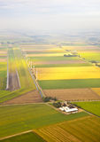 Several windmills and farm at Dutch landscape Stock Photography