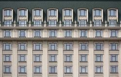 Several windows in a row on the facade of the building Royalty Free Stock Photo