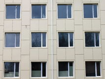 Several windows on the wall Stock Photography