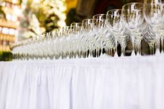 Several wine glasses Royalty Free Stock Images