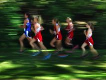 Several Women Runners Blurred Race Stock Photography