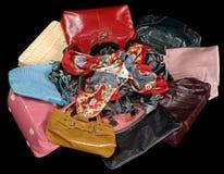 Several women's handbags Stock Photography
