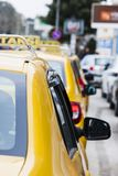 Line of taxi in Izmir Turkey Stock Image