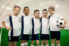 Successful football team stock image