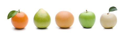 Severals приносит плоды изолированный стоковое фото