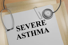 Severe Asthma - medical concept Royalty Free Stock Photo